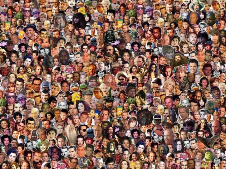 500 famous faces